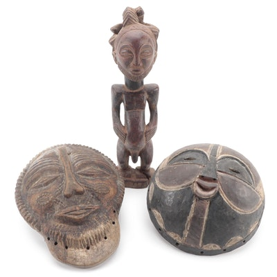 Hemba Style Figure Other Central African Style Wood Masks