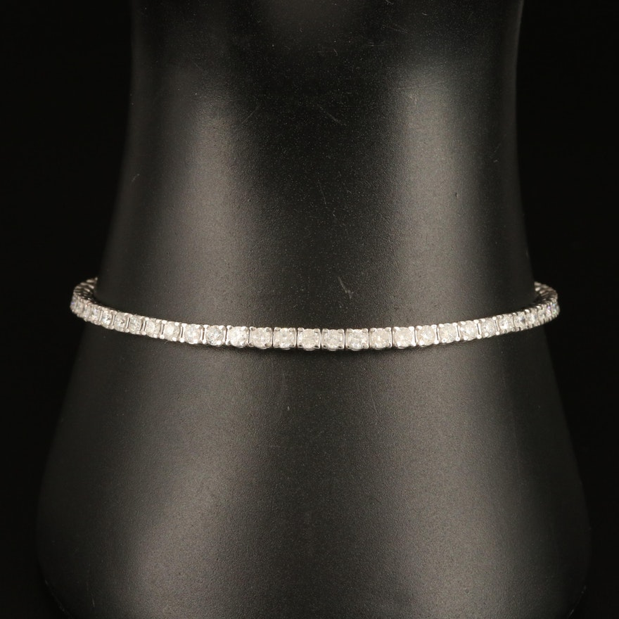 14K 3.00 CTW Diamond Tennis Bracelet