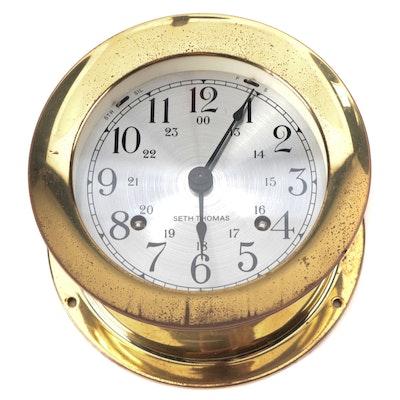 "Seth Thomas ""Corsair"" Ship's Bell Clock, Mid-20th Century"