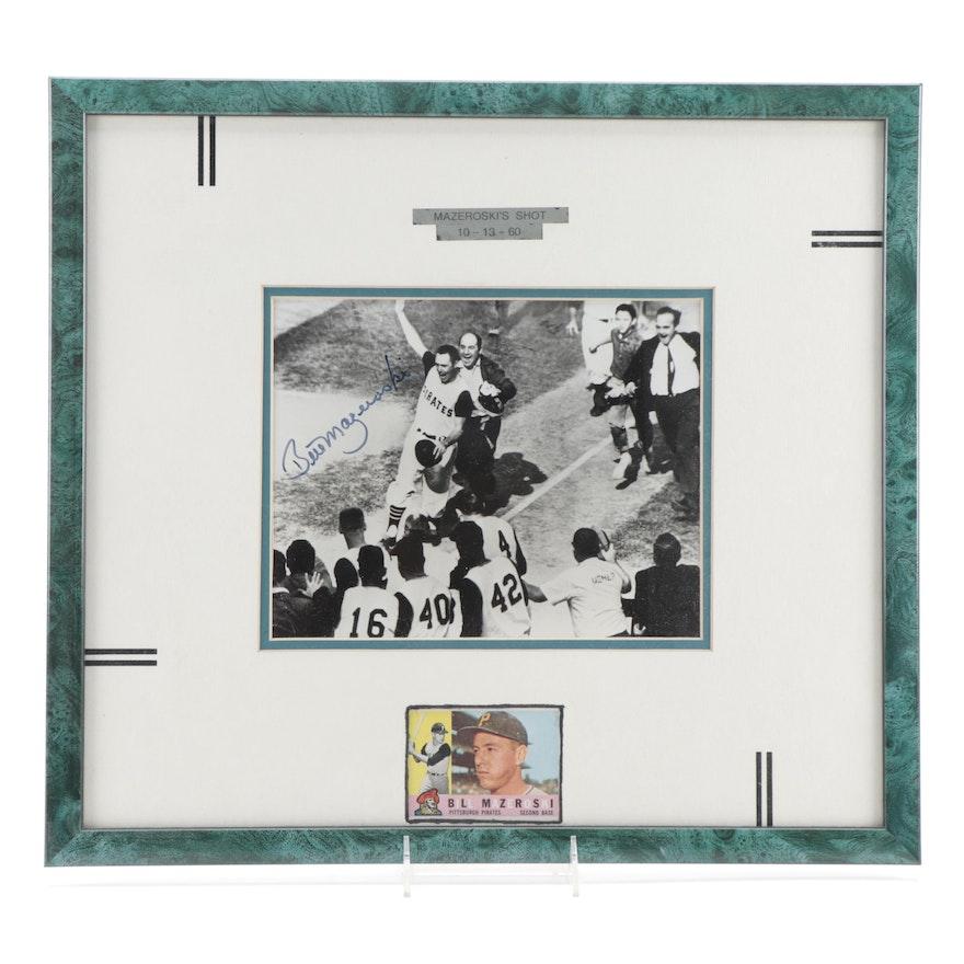 Bill Mazeroski Signed Photo Print with 1960 Topps Baseball Card