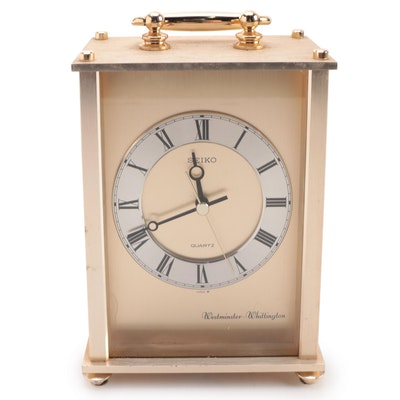 Seiko Gilt Metal Carriage Clock