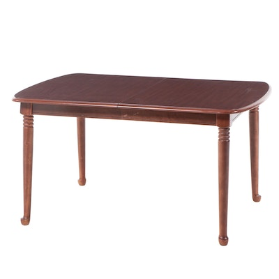 Mahogany-Grained Extension Dining Table