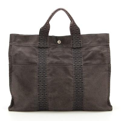 Hermès Herline Fourre Tout MM Bag in Gray/Black