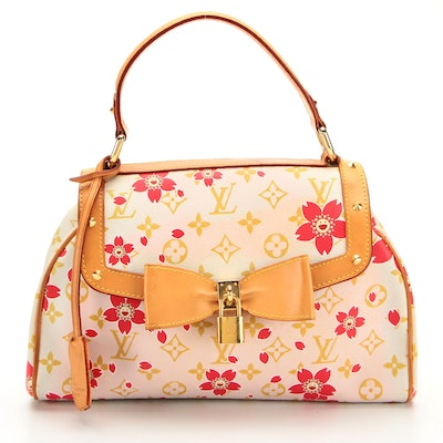 Louis Vuitton Limited Edition Sac Retro in Red Cherry Blossom Monogram Canvas