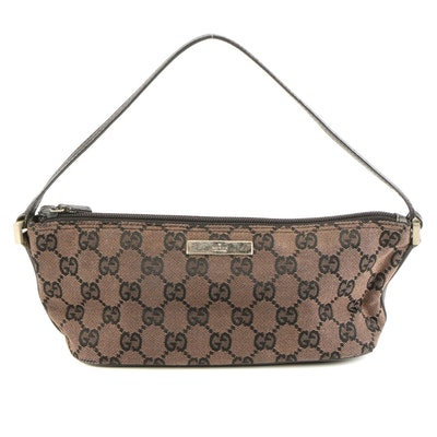 Gucci Handbag in GG Canvas and Leather Trim