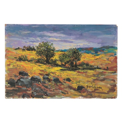 "Bill Salamon Acrylic Painting ""American Plains"""