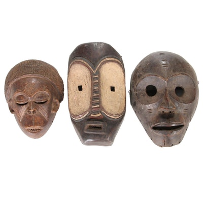 Chokwe Inspired and Other African Masks, 20th Century
