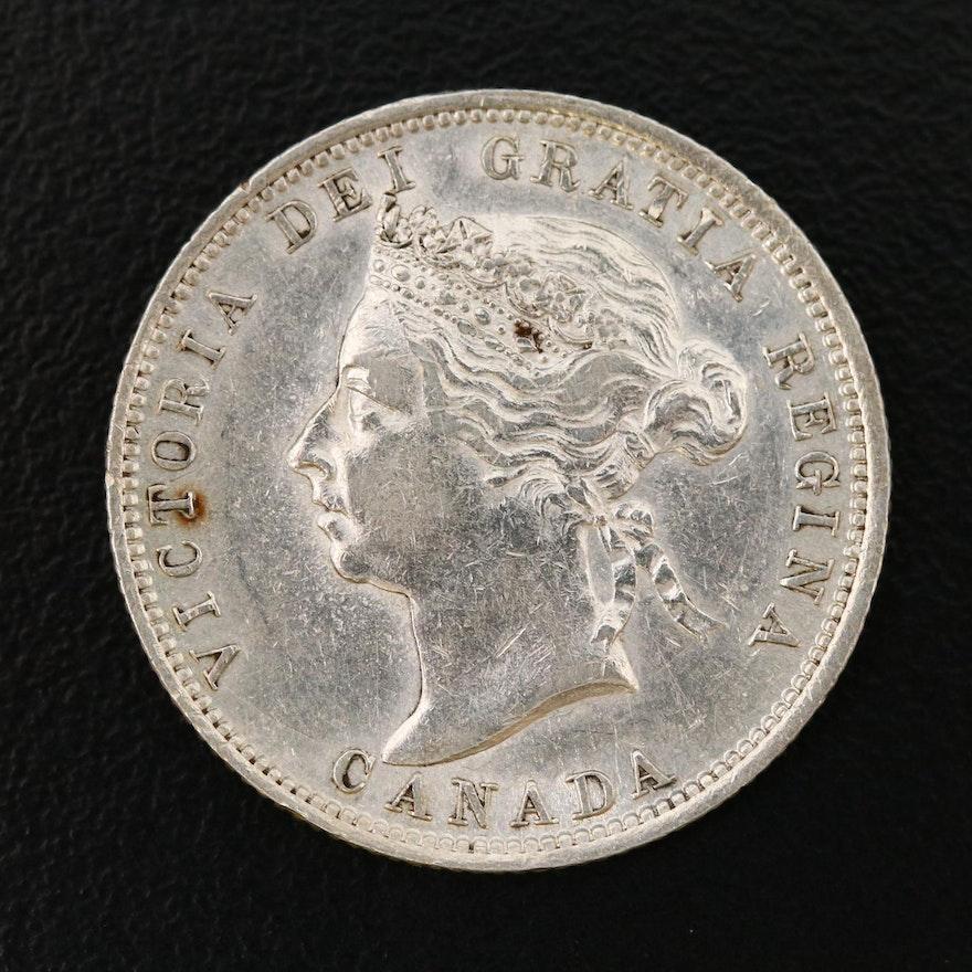 1901 Canada 25-Cent Silver Coin
