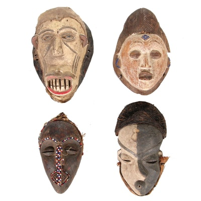 Pende, Punu, Kota And Other Central African Inspired Masks, 20th Century