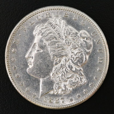 Better Date Lower Mintage 1887-S Morgan Silver Dollar