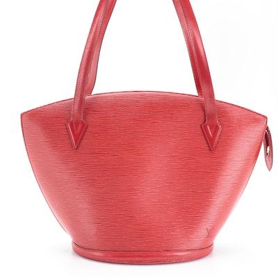 Louis Vuitton Saint Jacques GM Shoulder Bag in Castilian Red Epi Leather