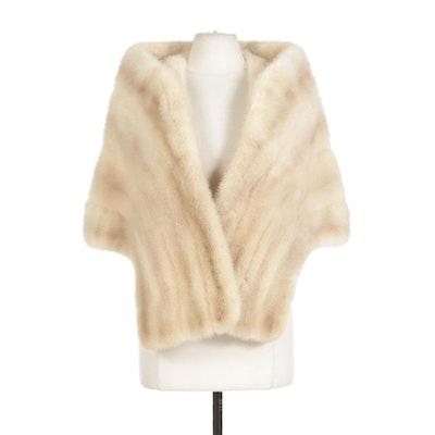 Mink Fur Yoke Style Stole; Vintage