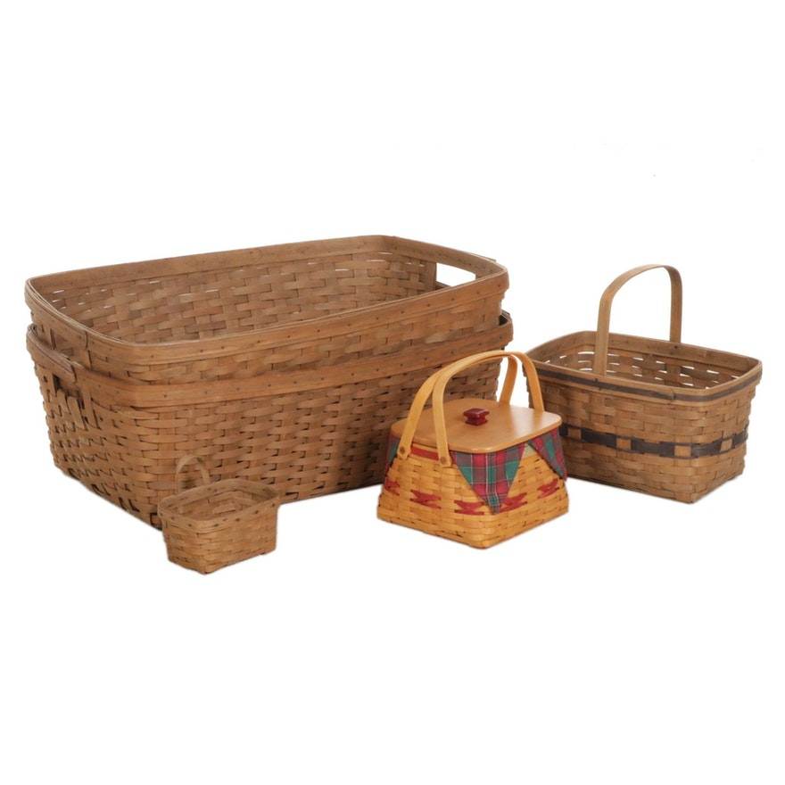 """Longaberger """"Christmas Collection"""" and Other Handwoven Baskets"""