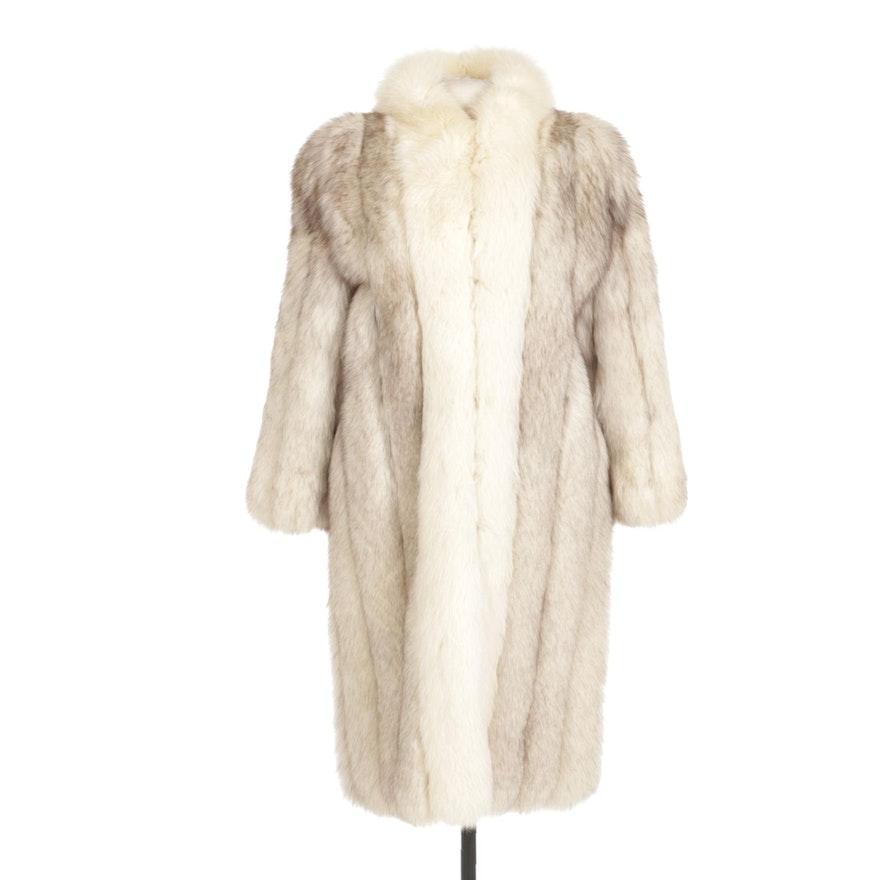 Blue Fox Fur Stroller Coat