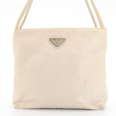 Prada Light Beige Nylon Handbag