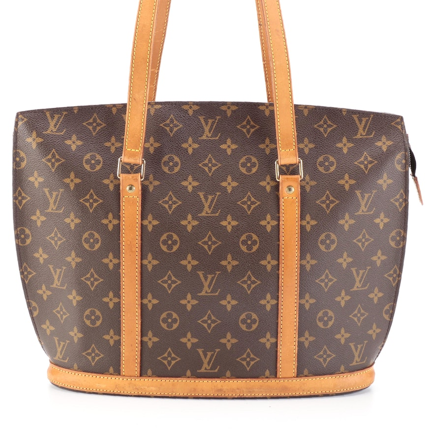 Louis Vuitton Babylone Tote Bag in Monogram Canvas and Vachetta Leather