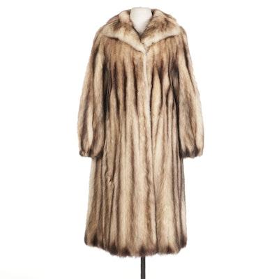 Fitch Fur Full-Length Coat