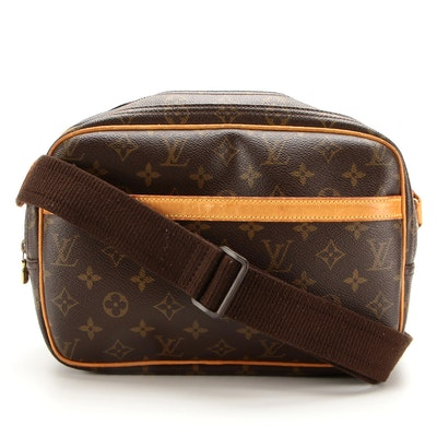 Louis Vuitton Reporter PM Crossbody in Monogram Canvas and Vachetta Leather