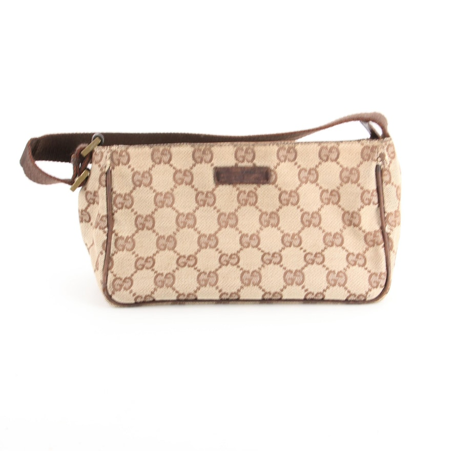 Gucci Handbag in GG Canvas and Leather