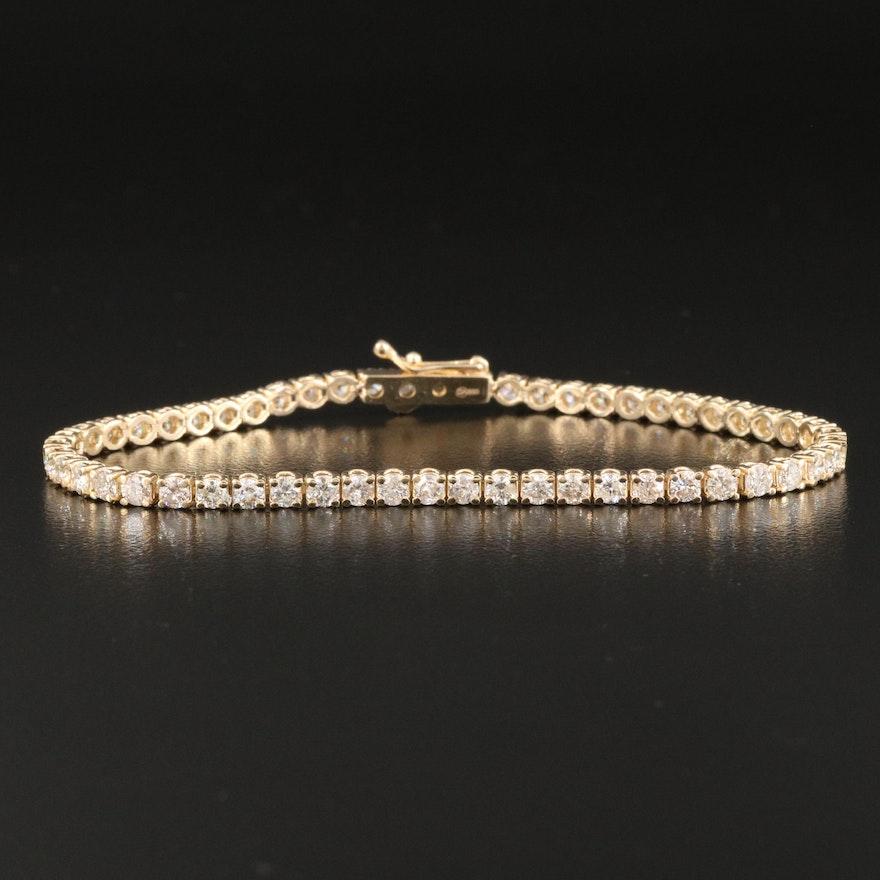 14K 4.02 CTW Diamond Line Bracelet