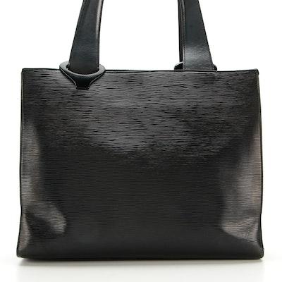 Louis Vuitton Z Gemeaux Tote Bag in Black Epi Leather