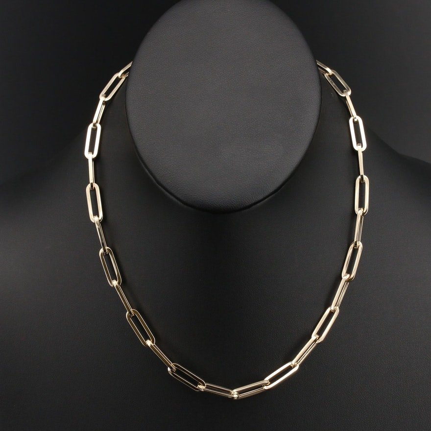 Italian 14K Oval Link Necklace