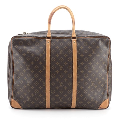 Louis Vuitton Sirius 50 Soft-Sided Suitcase in Monogram Canvas with Leather Trim