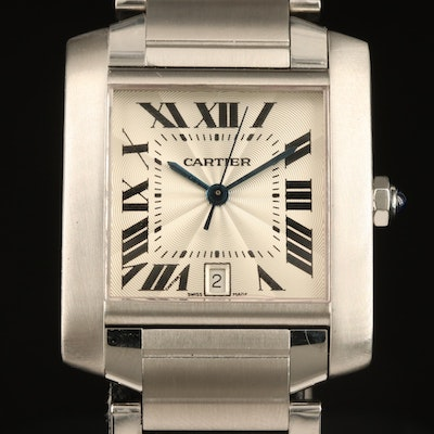 Cartier Tank Francaise Stainless Steel Automatic Wristwatch