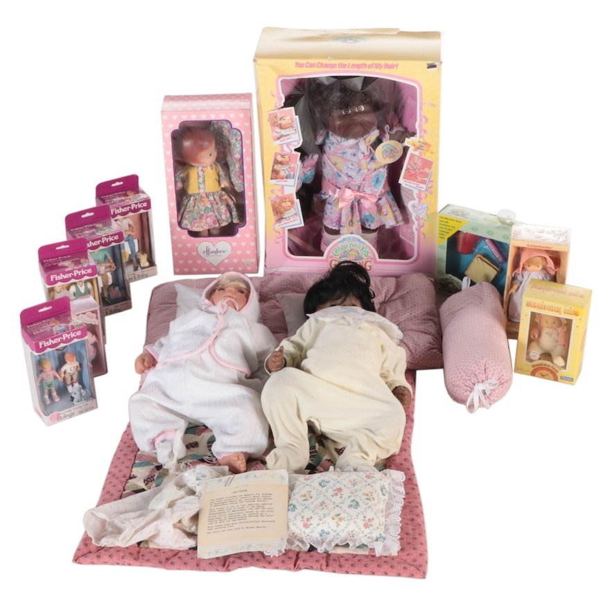 """Coleco """"Cabbage Patch Kids with Growing Hair"""" and Other Dolls, Late 20th Century"""
