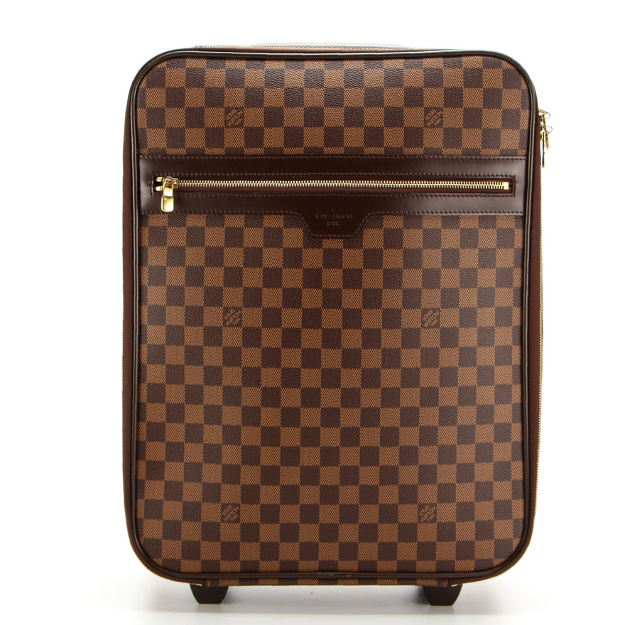 Louis Vuitton Pégase 45 Rolling Luggage in Damier Ebene Canvas