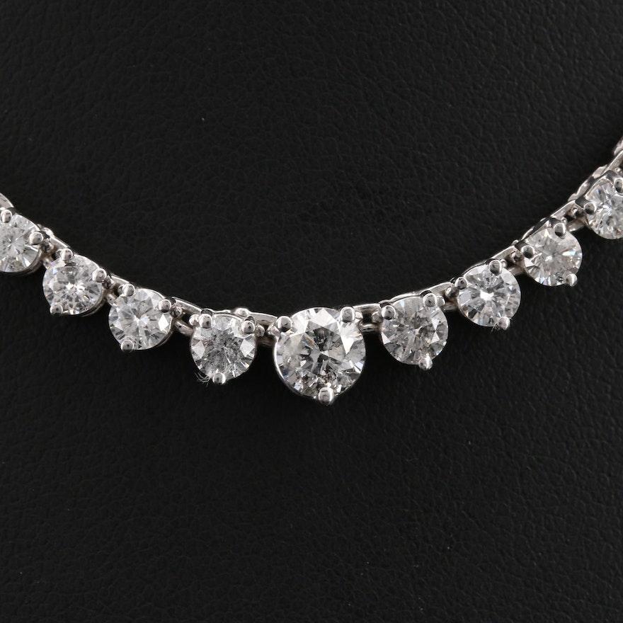 14K 10.83 CTW Graduated Diamond Necklace