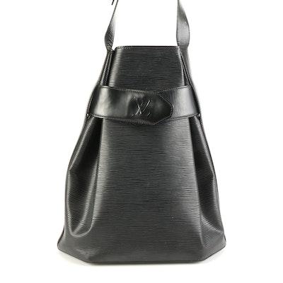 Louis Vuitton Bucket Shoulder Bag in Black Epi Leather
