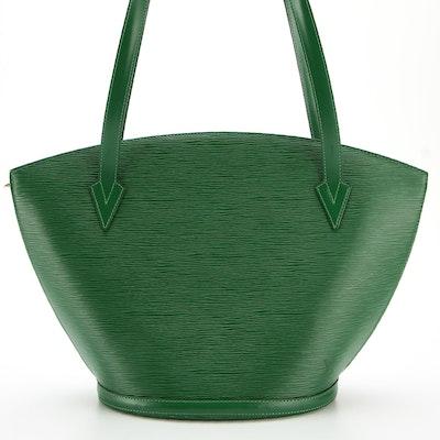 Louis Vuitton Saint Jacques Shoulder Bag in Green Epi Leather