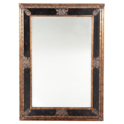 Uttermost Baroque Style Gilt Accented Composite Beveled Glass Wall Mirror