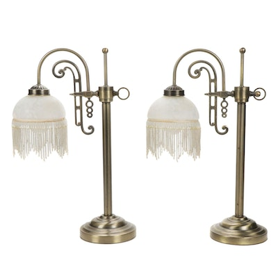 Art Deco Style Beaded Table Lamps
