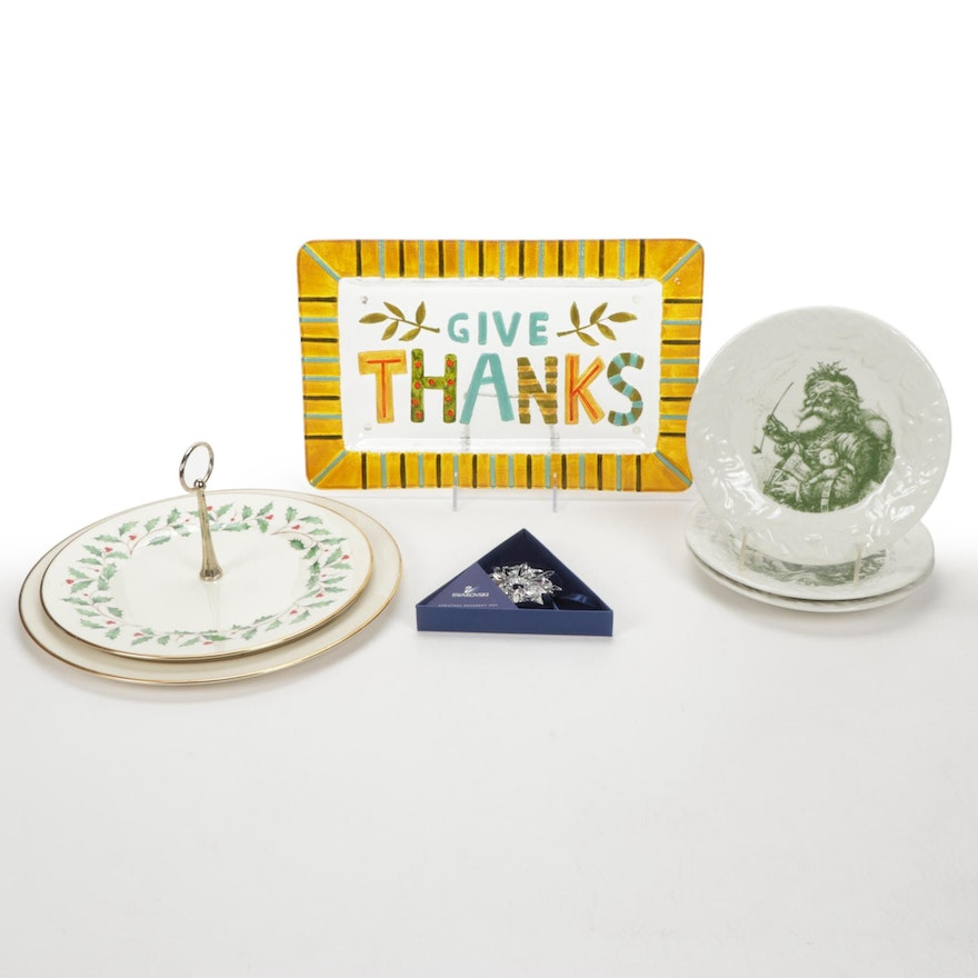 """Lenox """"Holiday"""" Serveware and Other Holiday Themed Table Accessories"""
