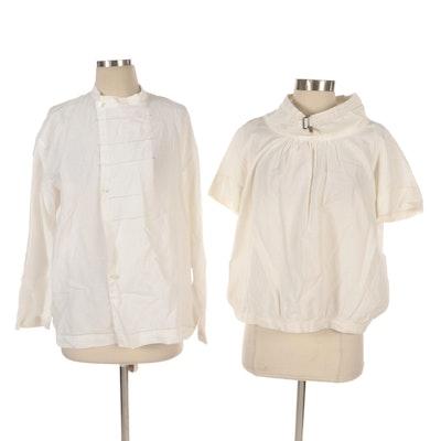 Issey Miyake and Dries Van Noten Long Sleeve Shirt and Short Sleeve Top