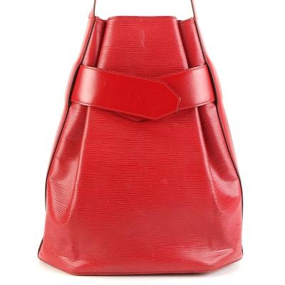 Louis Vuitton Sac D'Epaule GM Bag in Castillan Red Epi Leather