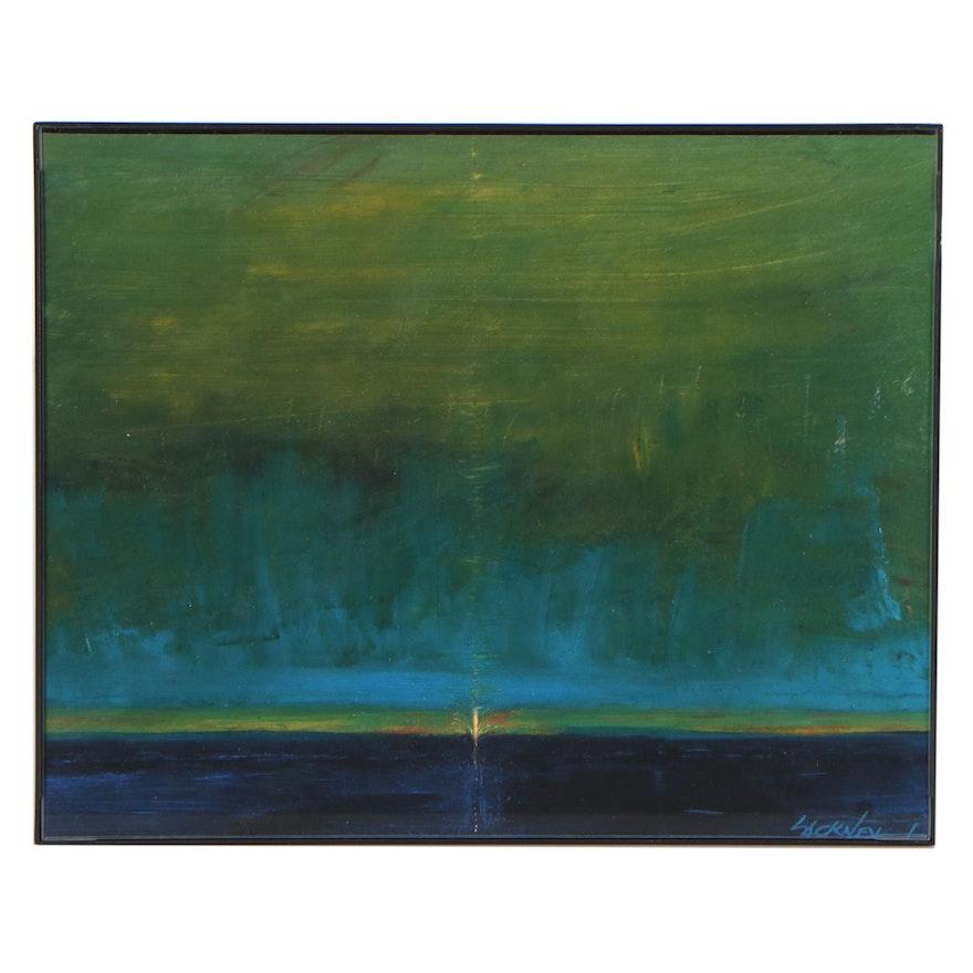 "Robert Lackney Oil Painting ""Magog"""
