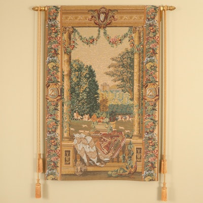 Corona Decor Co. Machine Made Royal French Hunting Scene Tapestry Wall Hanging