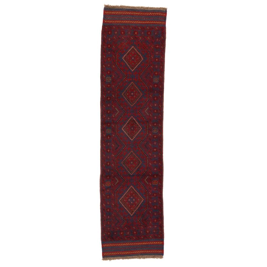 2' x 8'5 Hand-Knotted Afghan Turkmen Mixed Technique Carpet Runner