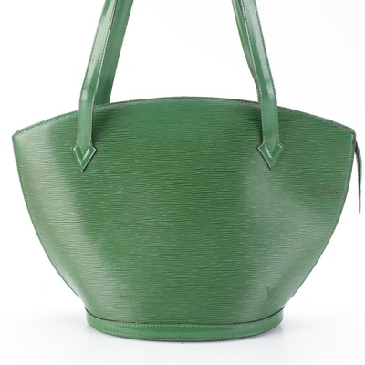 Louis Vuitton St. Jacques GM Handbag in Borneo Green Epi and Smooth Leather