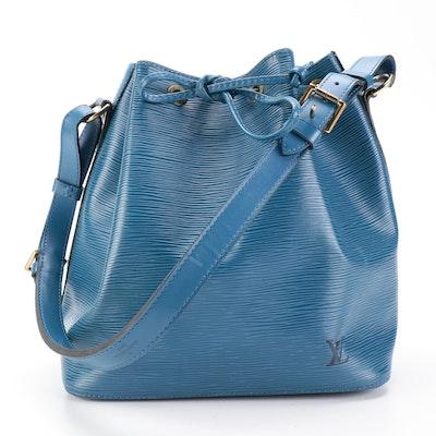 Louis Vuitton Petit Noé Bag in Blue Epi Leather