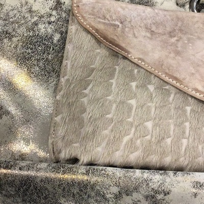 CoFi Leather Shoulder Bag and Brave Calf Hair Clutch