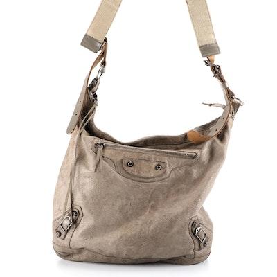 Balenciaga Day Messenger Bag in Lambskin