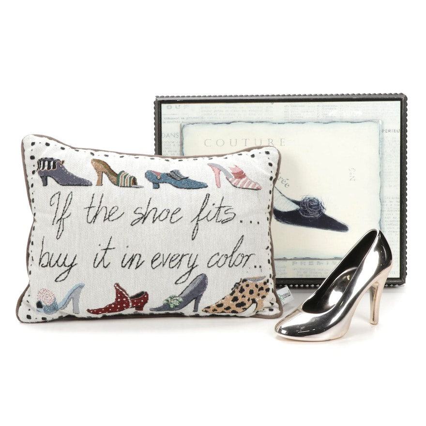 """Art in Motion """"Couture"""" by Emily Adams Print, Riverdale Pillow, and Shoe Décor"""