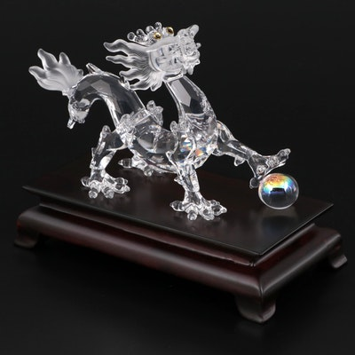 """Swarovski """"Dragon"""" from the Fables and Fairy Tales Series Crystal Figurine"""
