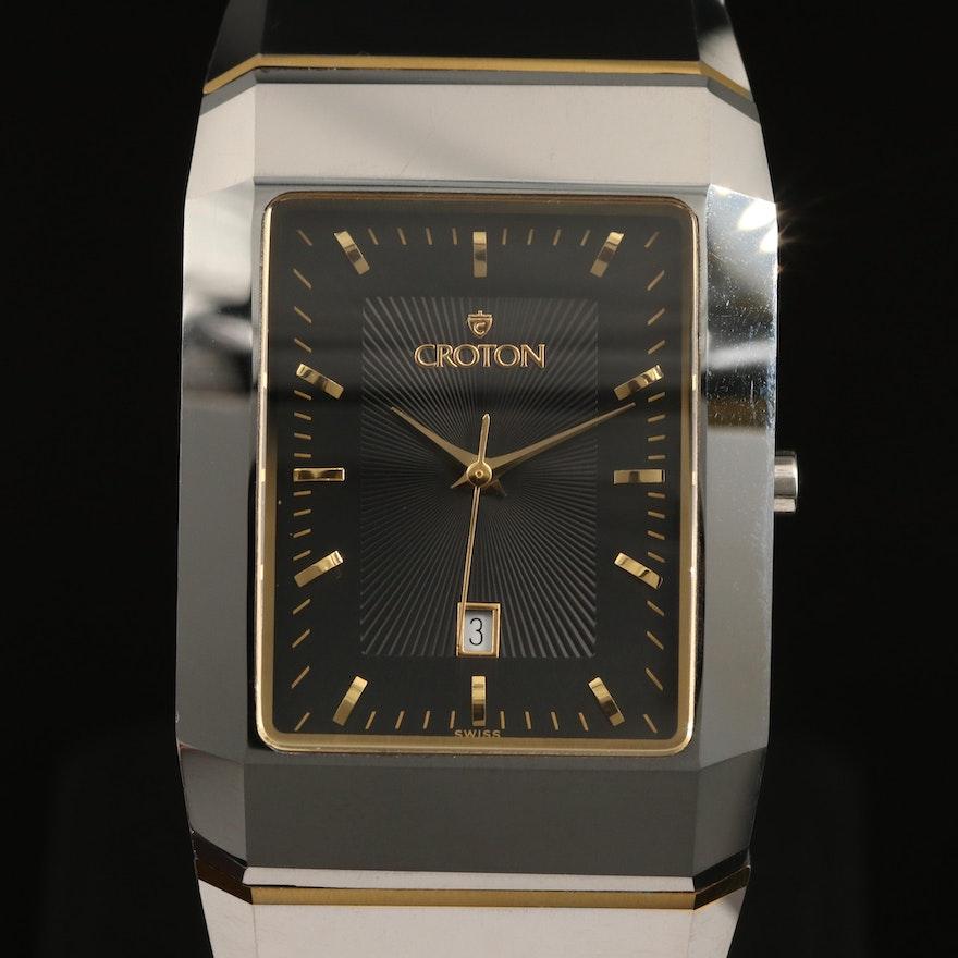 Croton Two Tone Tungsten Quartz Wristwatch