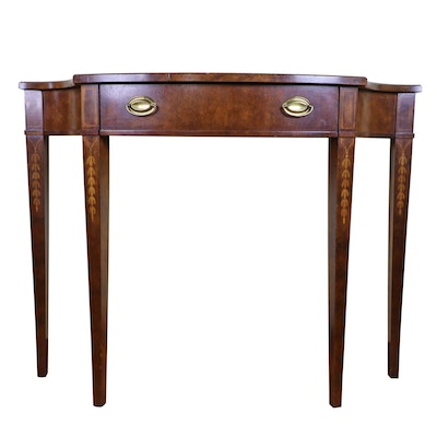 """Thomasville """"Mahogany Collection"""" Federal Style Demilune Console Table"""
