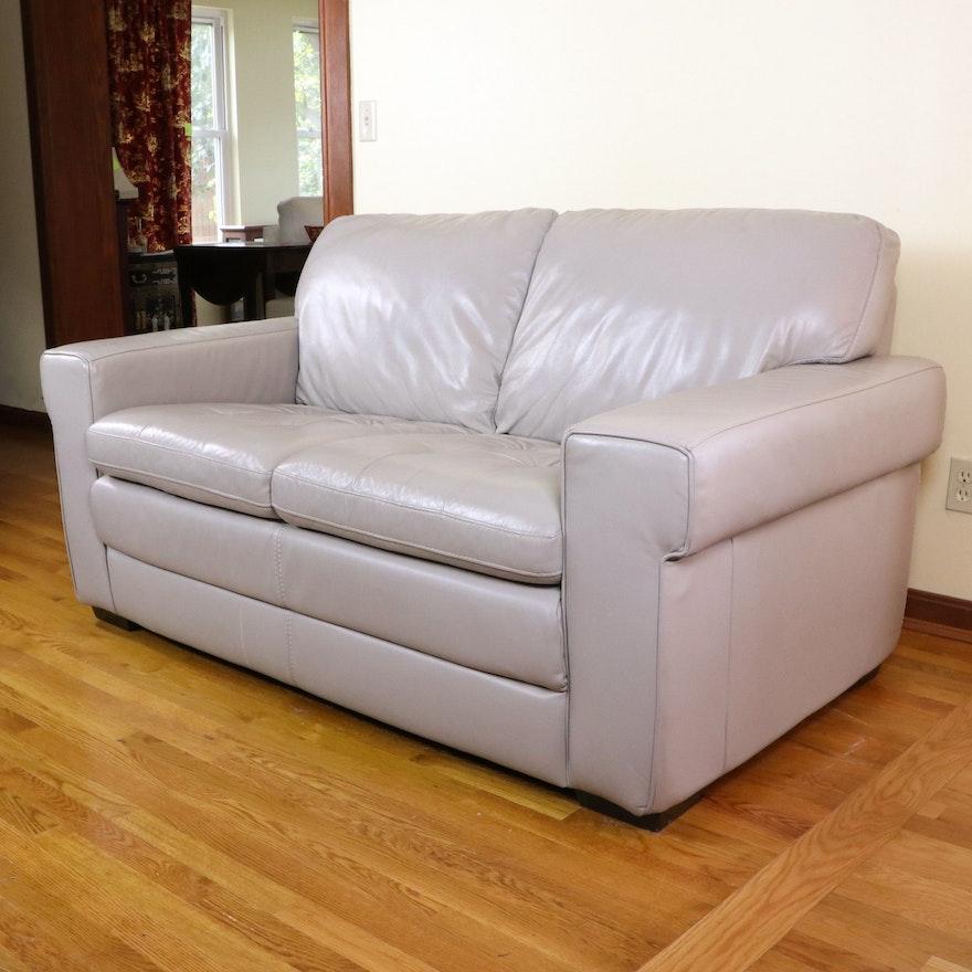 HTL Furniture Leather Loveseat